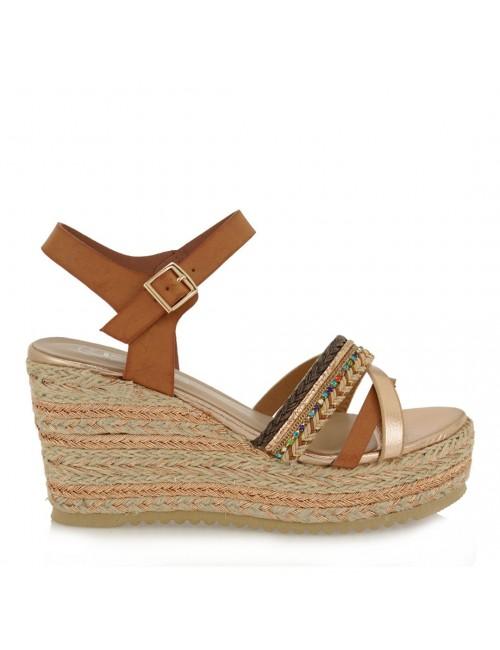 Γυναικείο παπούτσι EXE  M468Q024730T δέρμα ροζ χρυσο